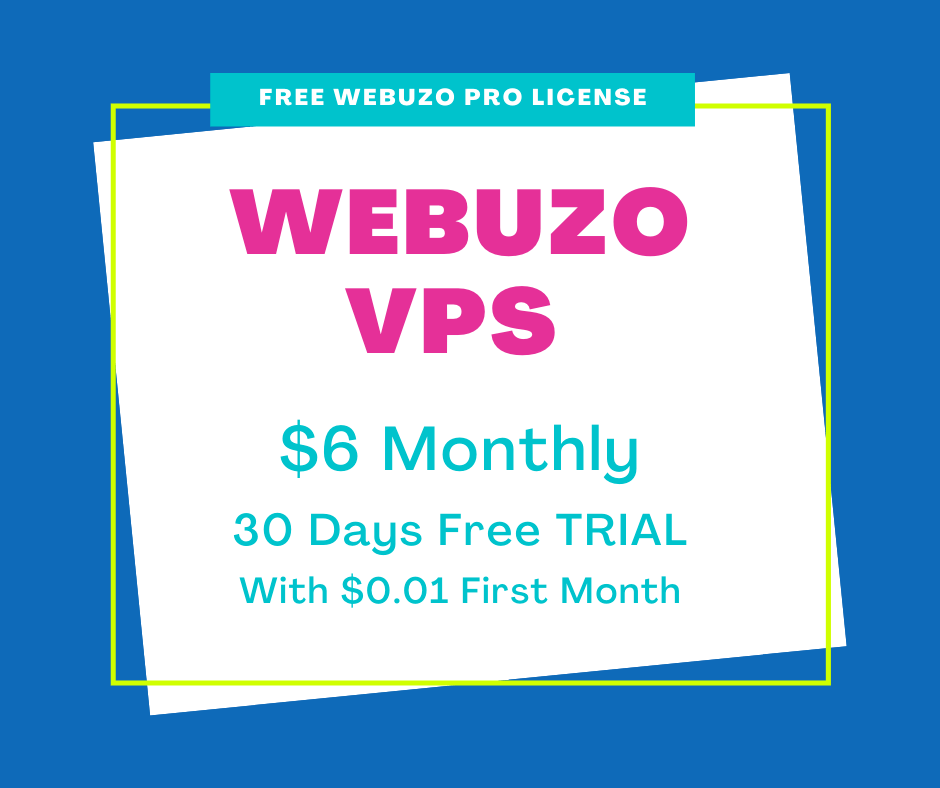 INTERSERVER WEBUZO VPS 30 DAYS FREE TRIAL